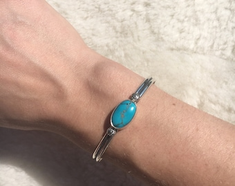 Sierra turquoise bangle sterling silver s/m