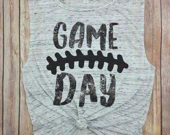 Game Day, football tank top, football season, game on, game top, i love football, high school football, college football, football mom