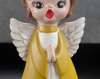 Vintage Handpainted Singing Angel