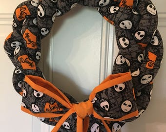 Nightmare Before Christmas Wreath - Jack Skellington - Halloween Wreath - Halloween Decor