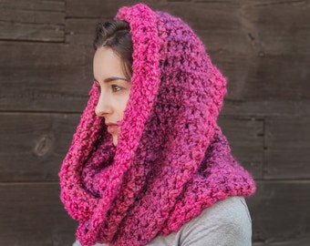 Pink Infinity Scarf // Gifts for Her // Vegan Cowl Scarf // Ready To Ship Free Shipping // THE MADELEINE shown in Wildberries