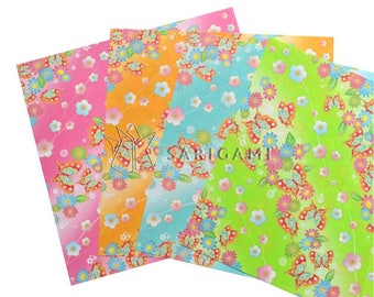 Origami papers with colored japanese patterns, 15 cm. Scrapbooking, origami, decoration, wedding, birthday cards
