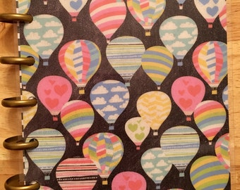 Planner cover set for mini happy planner- hot air balloons