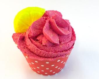 Bath bomb - Bubble bath - Bubble bar - Bath cupcake - Bath soak - Fun gift - Lemonade - Gift for her - Vacation - Watermelon - Gift