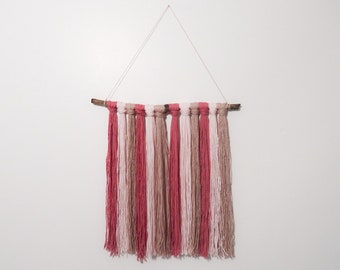 Wall hanging - shades of pink - one of a kind - cotton