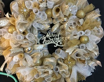 Gold and glam Christmas wreath