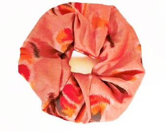 made from meisen,vintage silk kimono,scrunchie