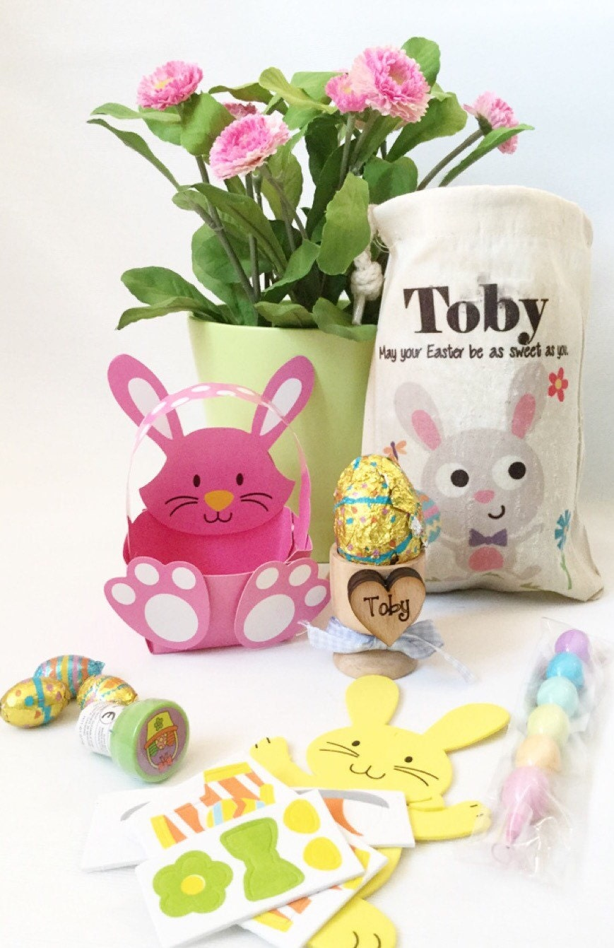 Easter gift easter basket personalised egg cups babys 1st babys 1st easter personalised easter basket gallery photo gallery photo negle Image collections