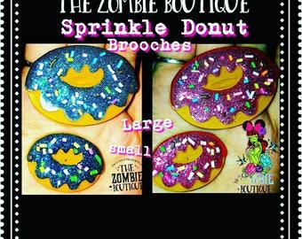 Sprinkle Donut Brooch