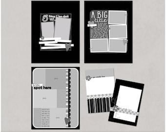 Sample Pack 15 - 8.5x11 Digital Scrapbooking Templates