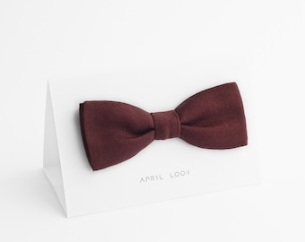 Wine red bow tie - MADE TO ORDER