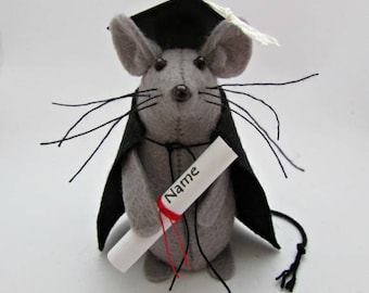 Graduation Mouse - Felt Mice - Felt Mouse - Graduation Ornament