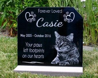 Cat Memorial Garden Stones Pet memorial etsy workwithnaturefo