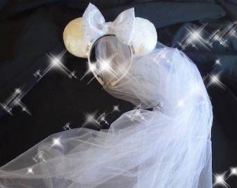 I DO Minnie Mouse Ears Disney Bride Honeymoon Wedding