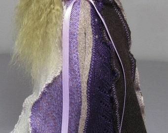 YoSD cloak in purple, cream, and brown