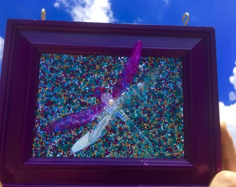 Dragonfly Suncatcher window art