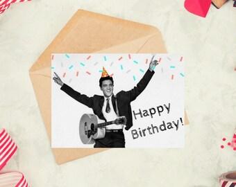 Elvis birthday card etsy elvis presley birthday card meme funny card personal photo unique card bookmarktalkfo Gallery
