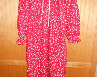 size 6 nightgown candy cane red