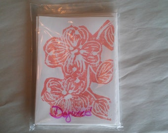 Greeting Cards created using block print - Dogwood