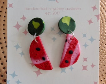 I Carried A Watermelon Dangle Earrings