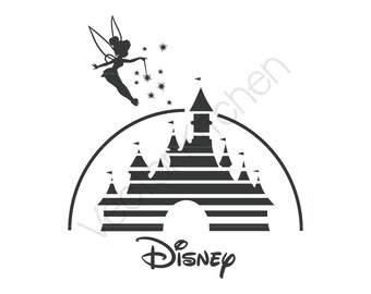 Disney Castle Tinkerbell Inspired Cutting Template SVG EPS Silhouette Cricut Sure Cuts A Lot DIY