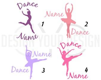 Custom Dance Adhesive Decal or Iron On