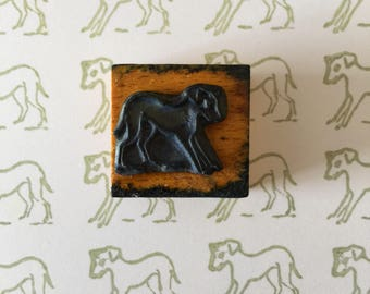 Dog French Vintage School Stamp