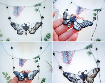 Butterfly Necklace Silver 8, 3cm