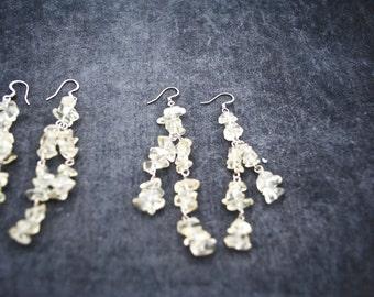 Clear Quartz Dangle Earrings ~ FREE SHIPPING