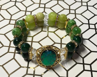 Shades of Green bracelet