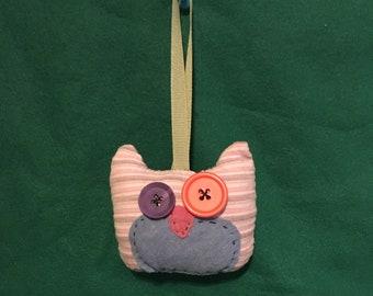Plush Owl Ornament