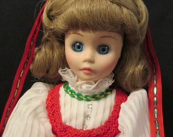 Christmas Girl Porcelain Doll