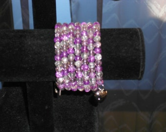 Light pink memory bracelet