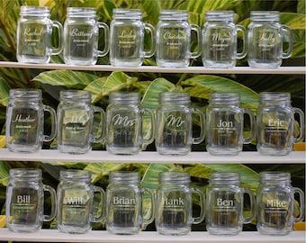 10 Groomsmen, Personalized Mason Jar Mugs, Custom Wedding Favor Bridesmaid Gift Mason Jar Wedding Party Gift Groomsmen, Wedding Gift for Men