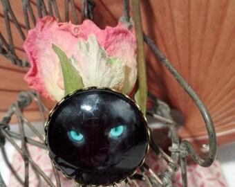 Brooch - black cat