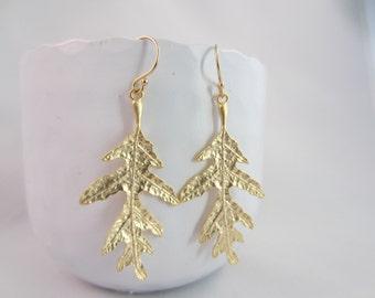 Earrings Large Oak Leaf