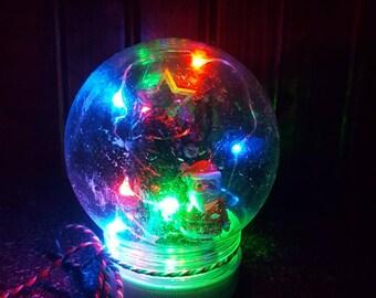 LED Christmas Tree w/Santa Globe