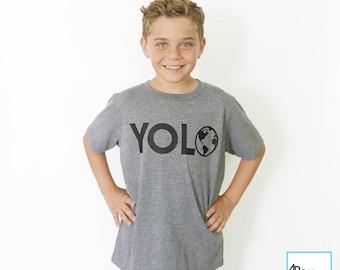 YOLO | Kids Earth Day Shirt | Climate Change Shirt | Science Shirt | March for Science | Science March Shirt | Science Gift | Kids T-shirt