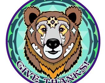 """Give Thanks! """"Bear Meds"""" Magnet"""