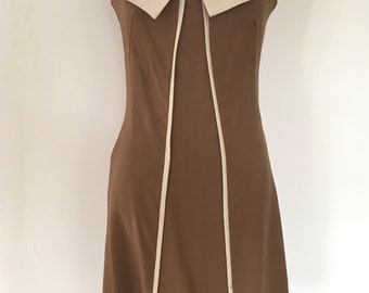 A Lovely Handmade Vintage 1960's Smart Day Dress with Bow Detail