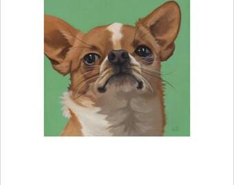 "Open edition print, ""Chihuahua Attitude"" signed"