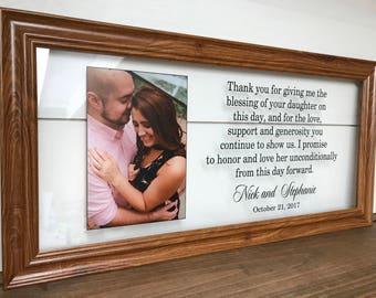 Wedding Frame Parent Parents Wedding Gift Parents of the