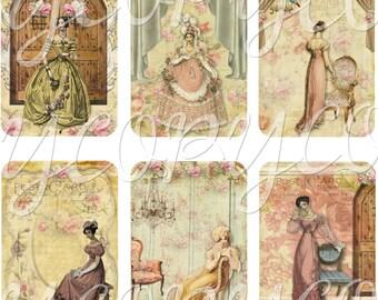 Instant Download  -  Jane Austen 505 - ACEO - Digital Download - Printable  Digital Collage Sheet