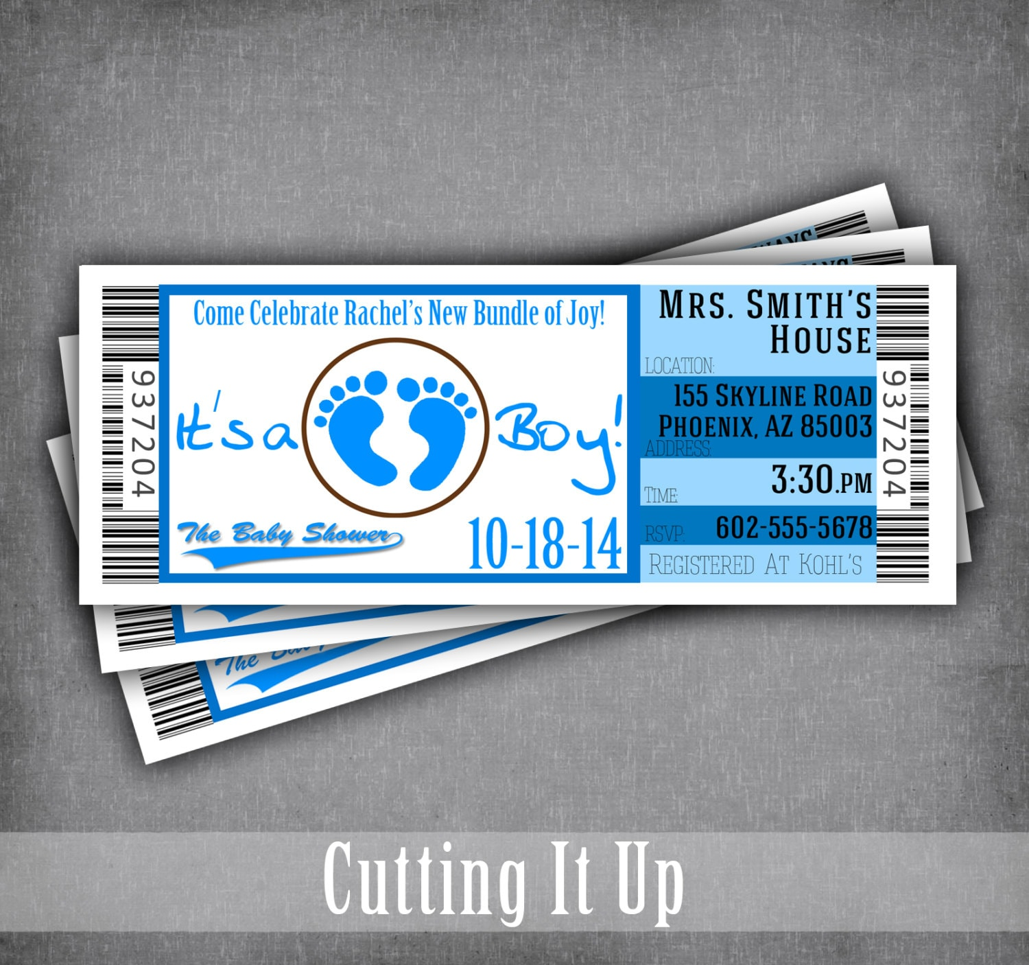 Sports baby shower ticket invitation its a boy invitation zoom filmwisefo Image collections