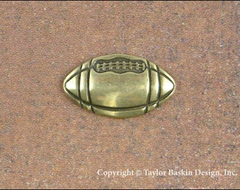 Antiqued Polished Brass Football Jewelry Scrapbooking Charm Finding (item 1804 AG) - 12 Pieces