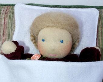 Waldorf doll, Waldorf first doll, Cuddle doll, Waldorf Cuddle Doll, Sleeping doll, Waldorf baby, Steiner doll, Primitive Doll, Pocket doll