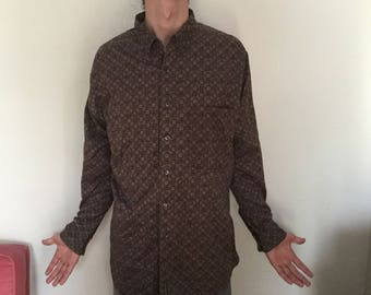 Funky Patterned Timberland Longsleeve button-up, Men's XL