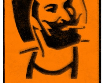 Zig-Zag Man rolling papers Spray Art Metal Sign