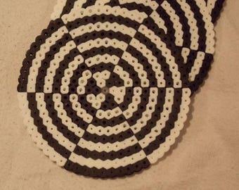 Set of 4 Coasters - Optical Illusion Black & White