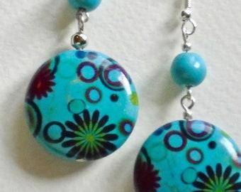 Funky handmade gemstone earrings.